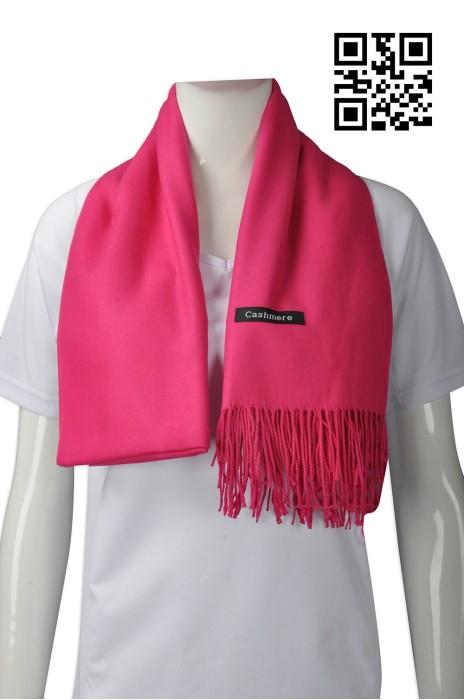Scarf043  設計女士圍巾款式   訂造流蘇圍巾款式  羊絨 留須 流鬚 圍巾  自訂淨色圍巾款式   圍巾專營