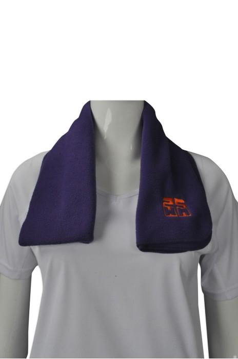Scarf050 設計淨色保暖圍巾  供應抓毛圍巾 來樣訂造圍巾  圍巾專門店