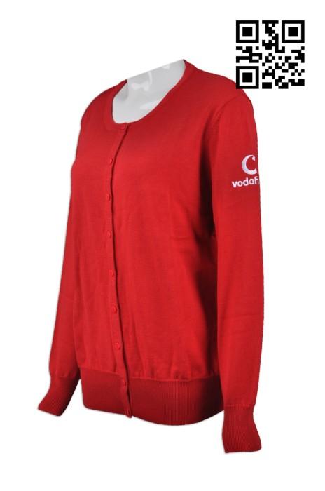 CAR018 訂購扣鈕冷外套 供應紅色冷外套 歐洲 電訊行業秋冬制服 製作團體冷外套 冷外套hk中心