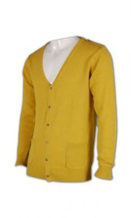 CAR003 V領開襟毛衣 冷衫團體訂造公司 冷衫批發