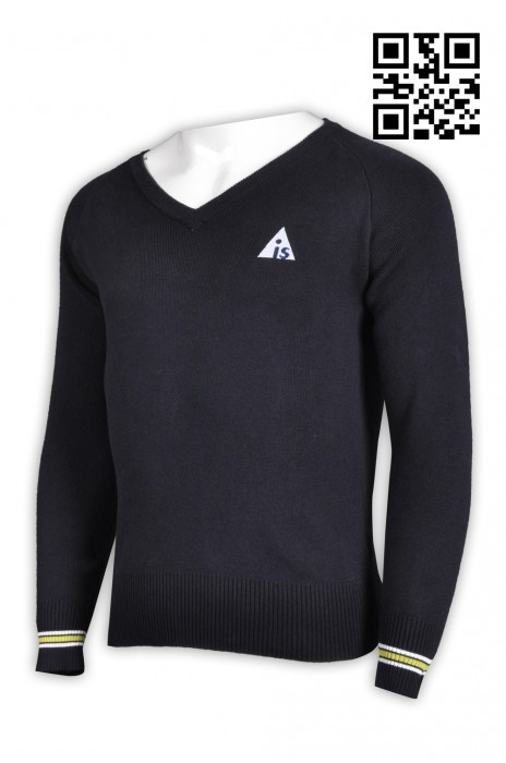JUM031訂造純色時尚毛衫 大量訂造團體毛衫 來樣訂造毛巾 長袖V領 毛衫制服公司