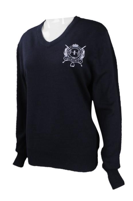 JUM042 大量訂做針織毛衫 團體訂購V領針織毛衫 澳洲 HH 針織毛衫生產商