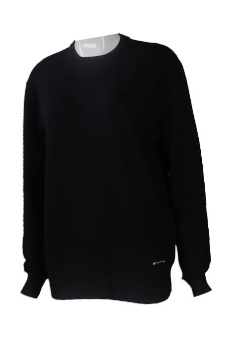 JUM043 來樣訂做50%羊毛 50%晴綸 長袖針織毛衫 網上下單圓領長袖針織毛衫款式 設計淨色毛衫專營店