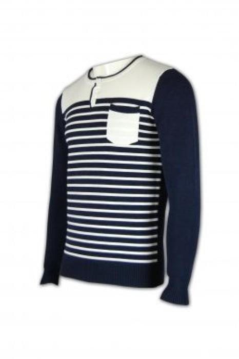 JUM007 橫紋冷衫 橫條紋毛衣外套 自訂毛衫款 套頭衫