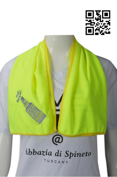A164  供應螢光黃冷感毛巾  設計冰涼毛巾  泰國啤酒節活動 大量訂造毛巾 毛巾HK中心 冰毛巾