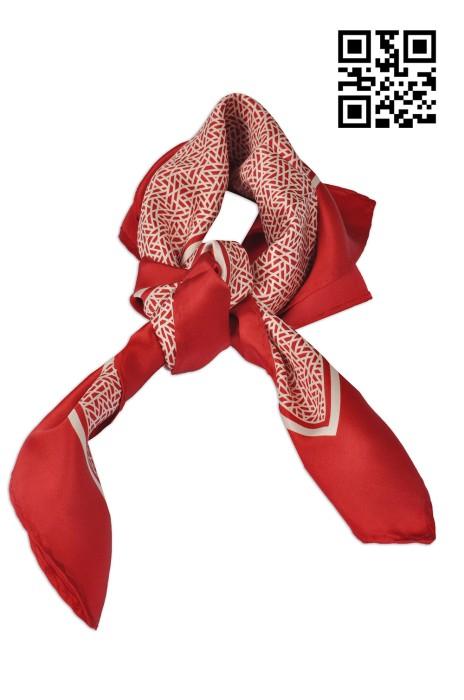 SF-012 製作時尚絲巾款式   訂做LOGO絲巾款式  銀行業  自訂真絲絲巾款式  絲巾製衣廠