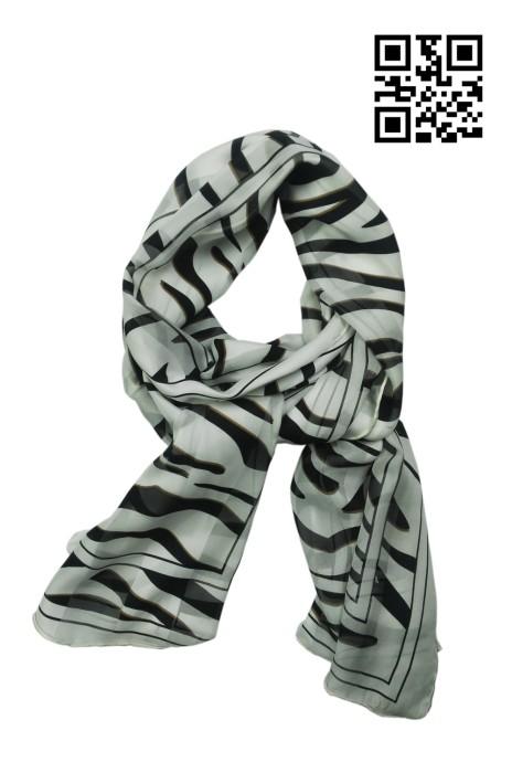 SF-020 設計花紋絲質領巾 供應時尚絲巾  網上下單絲巾 絲巾hk中心