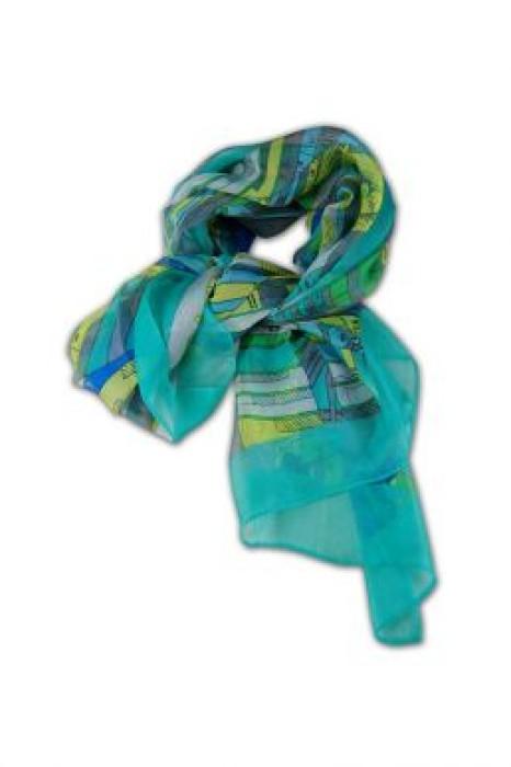 SF-002   自訂雪紡絲巾  女裝絲巾款式   絲巾批發商