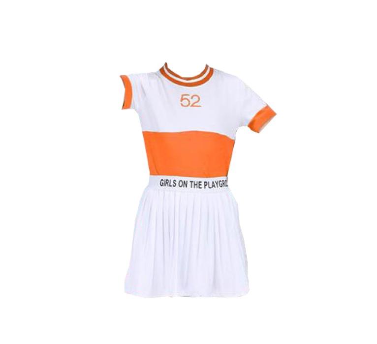 SKCU011 自製兒童啦啦隊服款式    製作分體啦啦隊服款式   訂造百褶裙啦啦隊服款式   啦啦隊服中心