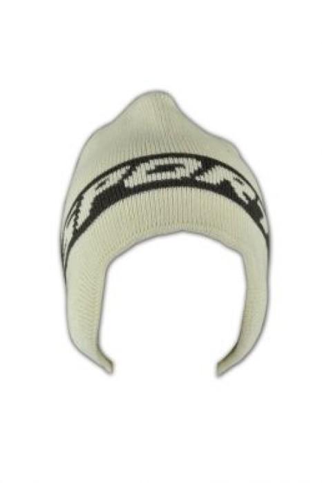 BEANIE004  拼色護耳冷帽 訂製 針織字母冷帽 冷帽在線訂購 冷帽網站