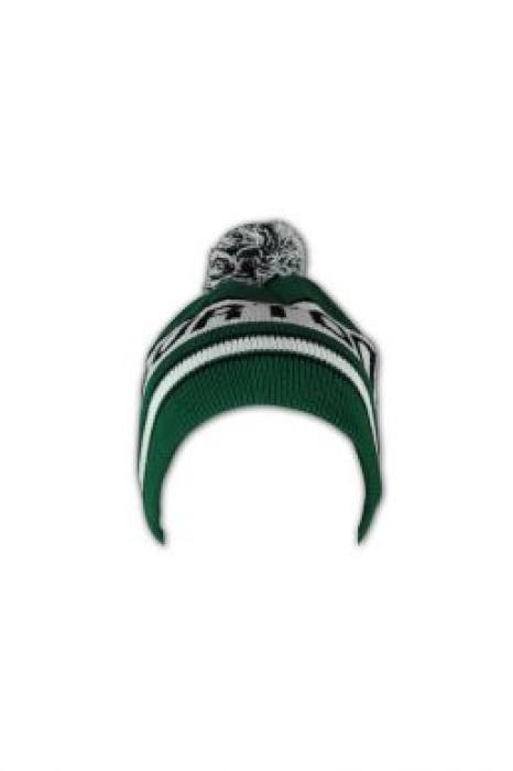 BEANIE015  字母提花冷帽 訂造 可愛毛球冷帽 冷帽款式設計 冷帽廠家