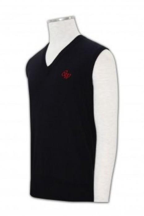 LBX029凈色V領背心 在線訂購 休閒背心款式設計 冷背心供應商