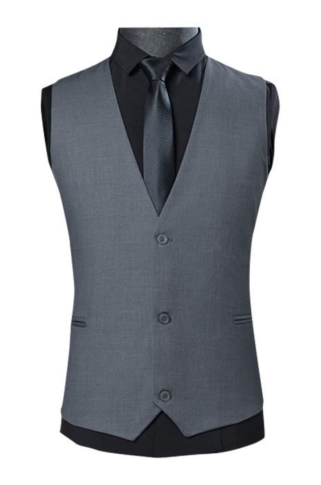 WC017  訂購商務修身西裝背心  灰色男士西裝馬甲  休閒西服背心  職業馬甲男背心