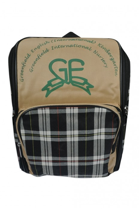 BP-072 大量訂做書包背囊 團體訂購格子書包背囊款式 幼稚園書包 自訂背囊製造商