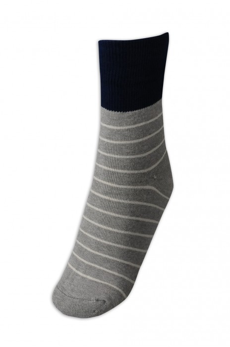 SOC044 設計中筒加厚棉襪  條紋撞色棉襪 襪子製造商