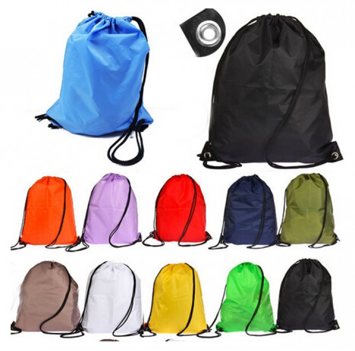 DWG004 束口袋滌綸拉繩背包訂製 印刷雙肩背包收納袋 抽拉款式袋  輕薄收納袋批發