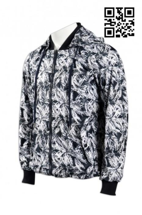 J476全件印花風褸 整幅印LOGO風褸 獨家款式風衣  度身訂製風褸 訂購獨特風衣 風衣供應商 風褸生產商HK