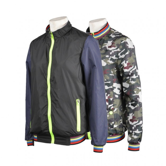 J472訂造迷彩風褸 迷彩外套訂購 迷彩衝鋒隊 訂製兩面風褸  迷彩夾克風衣  兩面穿風衣供應商HK