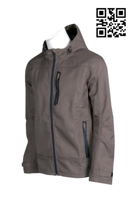 J581 訂購個性男士夾克外套 設計時尚淨色外套 無縫熱貼 2合一 3合一 來樣訂造風褸外套 外套專營