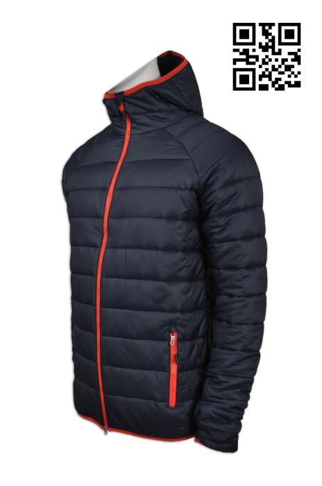 J626 製作保暖羽絨外套 訂造加厚羽絨外套 螢光橙 凍房 反光工業外套 網上下單羽絨外套 羽絨外套製造商 雪褸