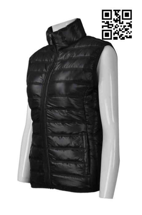 J678 訂購保暖羽絨外套  設計無袖羽絨背心外套  製造加厚羽絨外套 羽絨外套專營