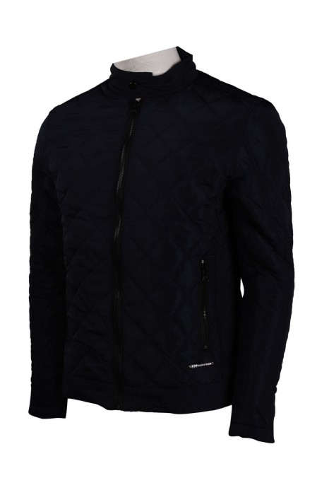 J817 製作黑色夾棉外套 袖口拉鏈 澳大利亞 夾棉外套生產商