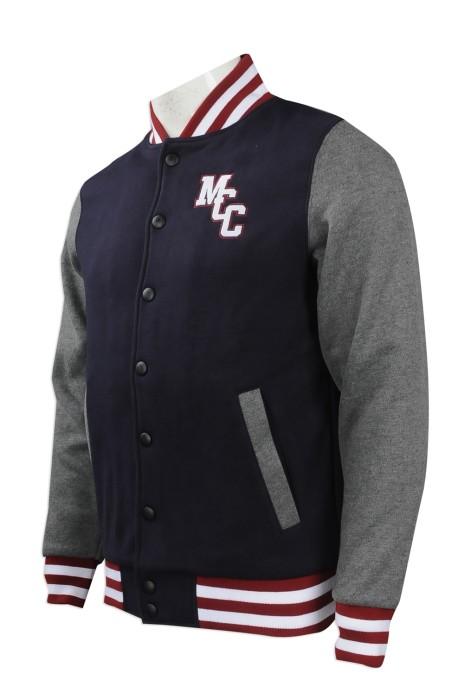 Z341 網上訂購棒球褸 設計棒球褸 供應棒球褸 澳洲 學校 員工制服 棒球褸供應商