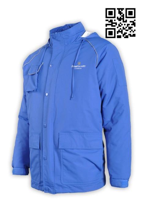 J509酒店行業保暖厚外套 兩件套風褸外套 製造風褸外套 風褸外套製造商