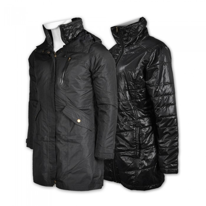 J576訂做修身兩件套外套  製造女士兩件套外套 自訂淨色兩件套外套 兩件套外套生產商