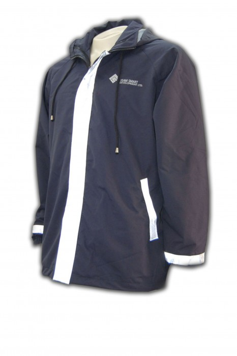 J201訂做工程制服風褸 工程制服風褸布料 工程制服風褸製做商