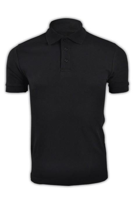 純色 黑色007短袖男裝Polo恤 1AC03  舒適純棉polo恤 休閒運動polo恤 polo恤公司 T恤價格