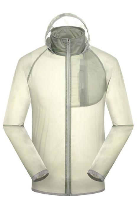 SKJ015 訂購戶外防曬皮膚衣 男女風衣中長款皮膚風褸 夏季透氣超薄防紫外線空調衫 沙灘服