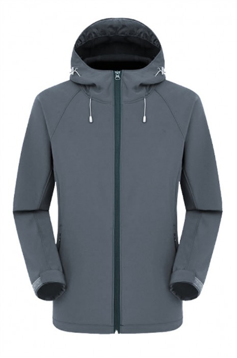 SKJ023 訂購抓絨沖鋒衣外套 軟殼秋冬工作服 保暖風褸製造商