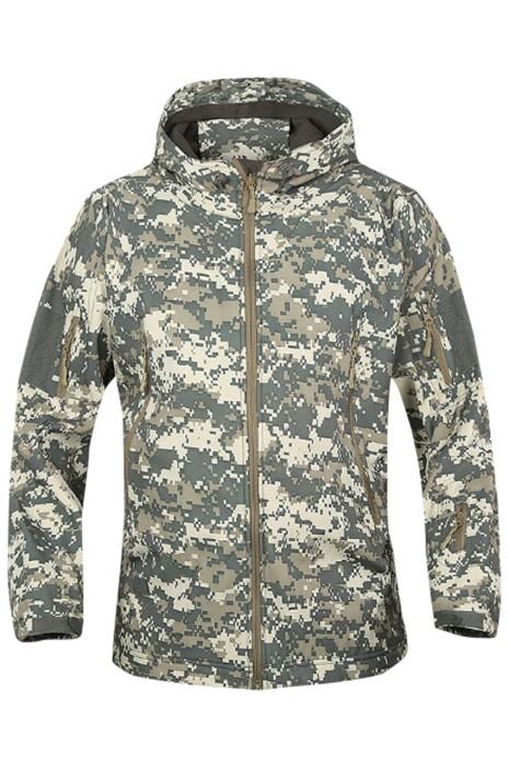 SKJ027  製造軟殼沖鋒衣 訂購鯊魚皮抓絨戶外外套 防風防水保暖迷彩服