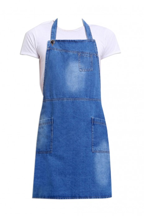 SKAP026  訂購牛仔圍裙  設計廣告logo圍裙  餐廳服務業工作服  工廠批發加工圍裙 100%棉