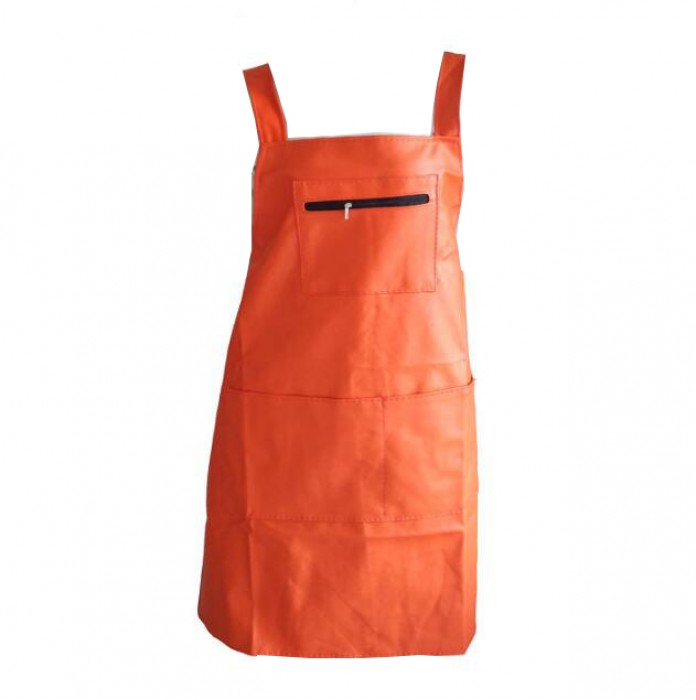 SKAP038 無袖圍裙 拉鏈袋圍裙  PU防水圍裙  街市圍裙  濕貨圍裙