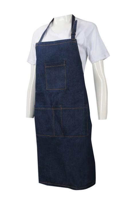 SKAP042  來樣訂做全身圍裙 設計牛仔布全身圍裙 筆插設計 訂造圍裙供應商