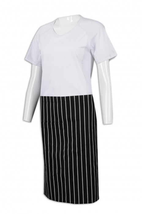 SKAP046  製作半身條紋圍裙 圍裙製造商
