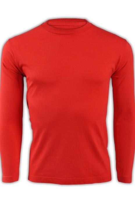 printstar 大紅色010長袖男裝T恤 00101-LVC 在線訂購活力彩色T恤 純棉T恤  T恤製造商  T恤價格