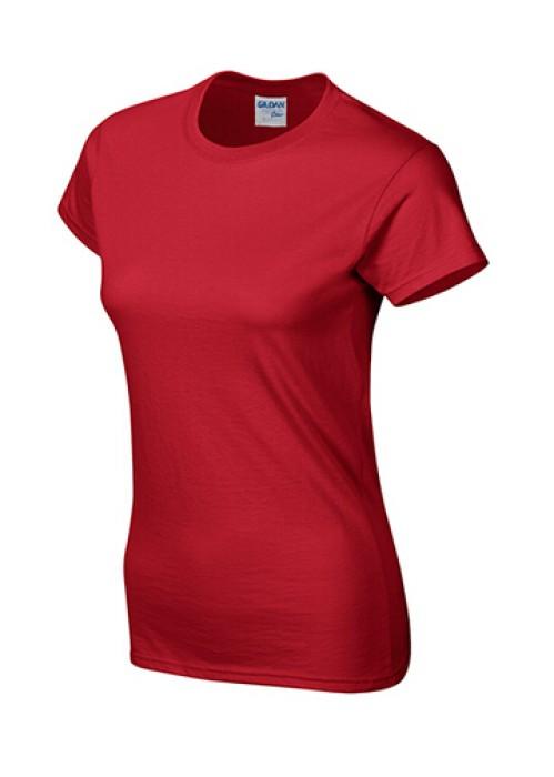 Gildan 紅色 040  短袖女圓領T恤 76000L 純色女裝T恤  透氣T恤 T恤供應商 T恤價格
