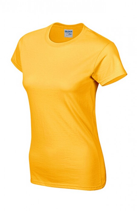 Gildan 金色 024 短袖女圓領T恤 76000L  透氣T恤 T恤供應商 香港訂製T恤 T恤價格