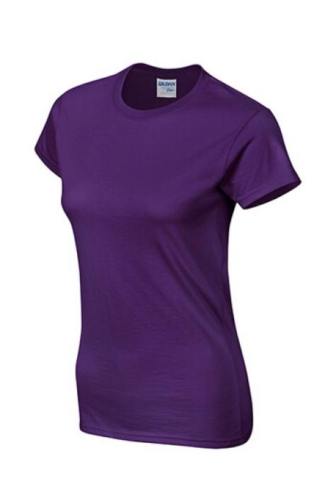 Gildan 紫色 081 短袖女圓領T恤 76000L  T恤批發 女T恤印字 買T恤 T恤價格