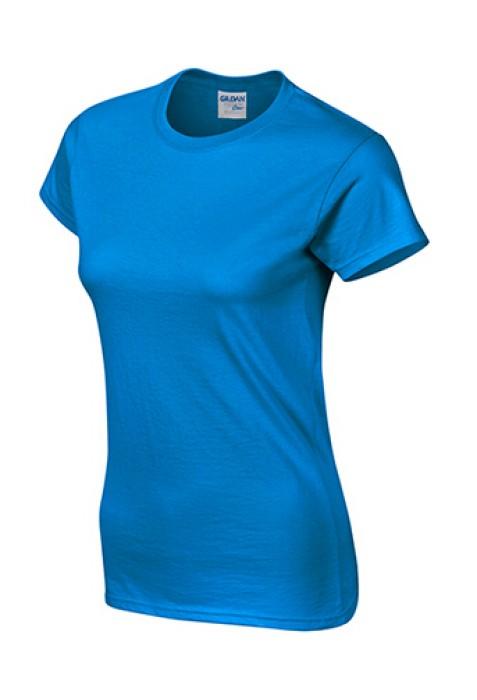 Gildan 彩藍色 026 短袖女圓領T恤 76000L 女圓領tee T恤批發 女T恤印字 T恤價格