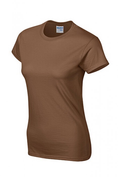 Gildan 栗黃色 084  短袖女圓領T恤 76000L 女圓領tee T恤批發 女T恤印字 T恤價格