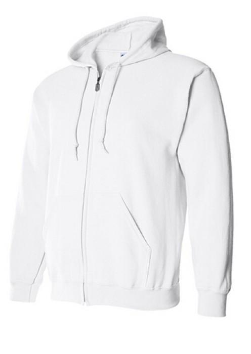 Gildan 白色 030 短袖女圓領T恤 88600 拉鏈外套訂製 純色拉鏈外套印字 速印拉鏈外套 衛衣價格