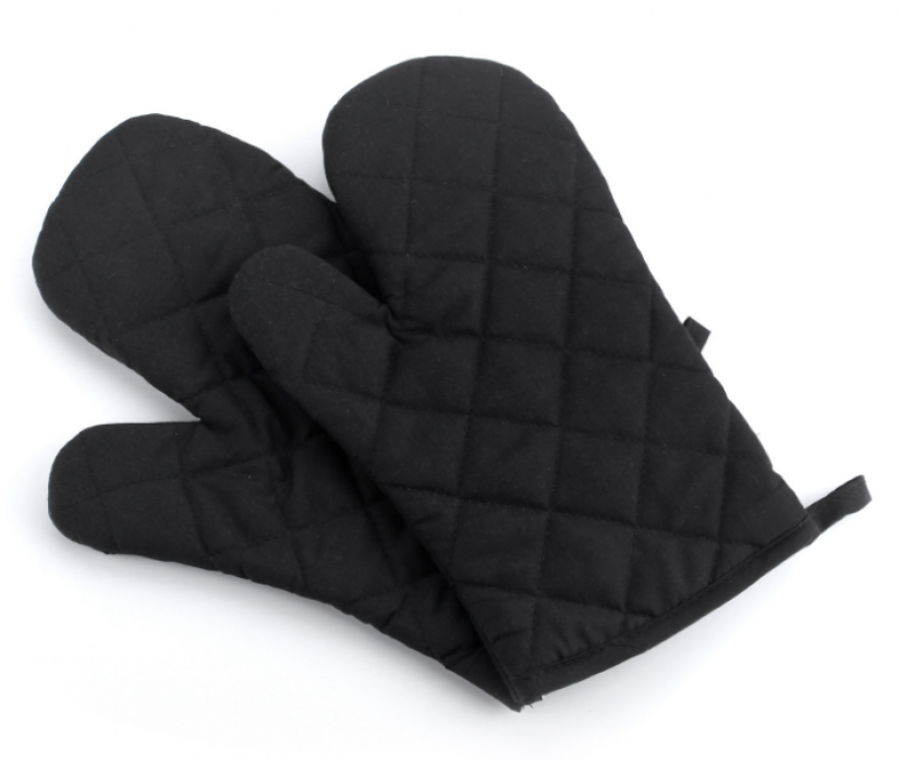 YD150702  黑色隔熱手套   來樣訂做隔熱手套  隔熱手套專營  滌棉65%  70G  隔熱手套價格
