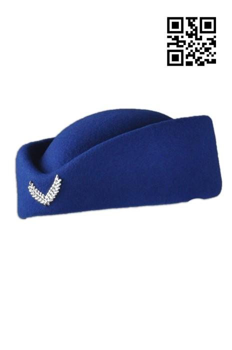SKHJM-011 網上下單軍帽  設計空軍帽 來樣訂造軍帽 軍帽製造商   羊毛混紡織布  海軍帽價格