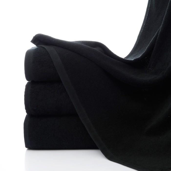 SKTW027 訂購純黑色毛巾  棉質加厚型純色毛巾 純棉黑色面巾不掉毛  耐污穢 耐骯髒純棉毛巾 75*35cm  100g  120g