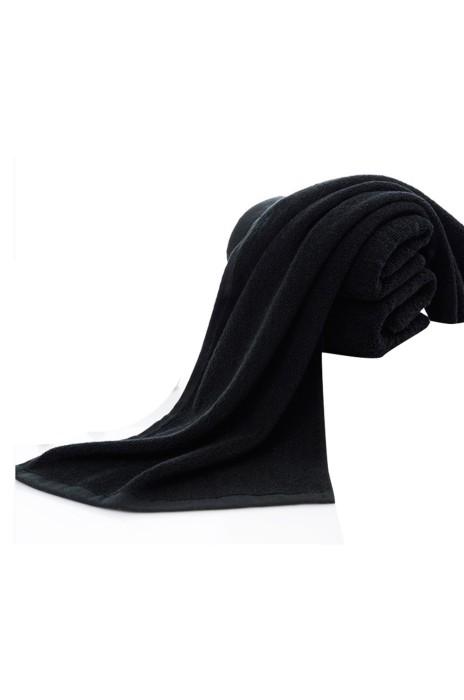 SKTW035  純黑色毛巾 棉質加厚型 純色 純棉 黑色面巾 掉毛男人耐污穢 耐骯髒毛巾   75*35cm