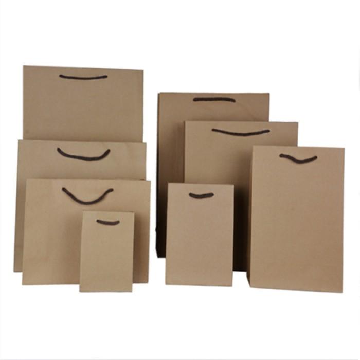 PC011 訂製純色牛皮紙袋 服裝袋 手提袋 環保禮品袋 環保袋生產商